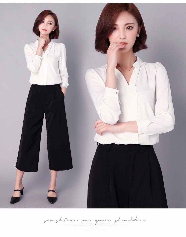 HTB1 CB0LpXXXXX.XVXXq6xXFXXXs - Long Sleeve Elegant Ladies Office Shirts Fashion Casual Slim Women