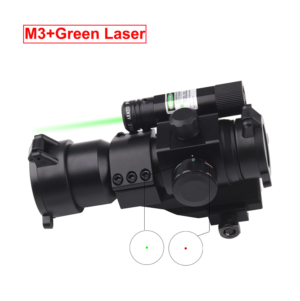 Tactical Reflex Red Green Dot Sight Rifle Scope With Green Red Laser Gun Hunting Optics Riflescopes For Picatinny Rail