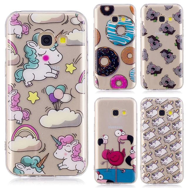 innovative design 54231 1c6d5 US $3.99  Unicorn Licorne Cute For Samsung Galaxy A5 2017 Case Silicone  Transparent TPU Phone Cases For Samsung Galaxy A5 2016 Soft Cover-in Fitted  ...