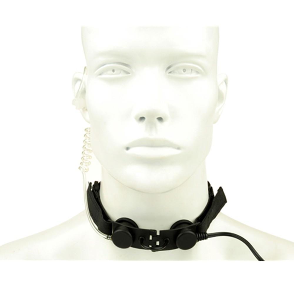 Tactical headphone military headset radio use Throat Mic Headset (Tan gray black) (5)