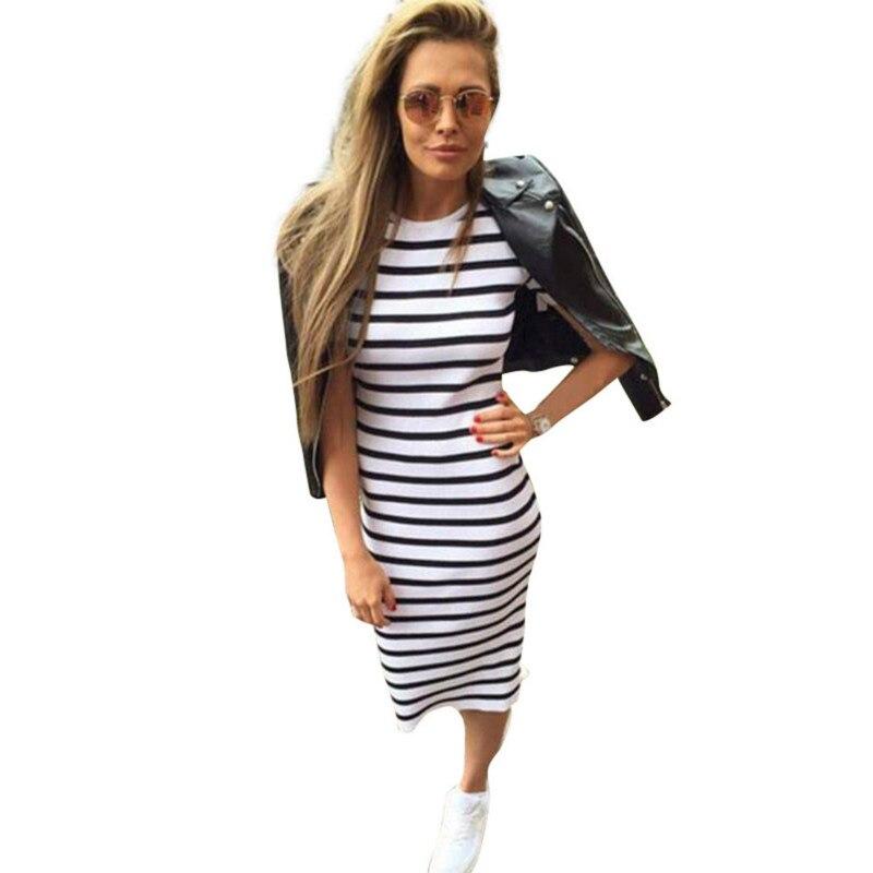 2018 Summer Fashion Dress Summer Women Maxi Long font b Slim b font Dresses Casual Loose