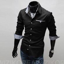 2017 new brand mens casual shirts 3 colors plaid pocket men plus size slim fit dress