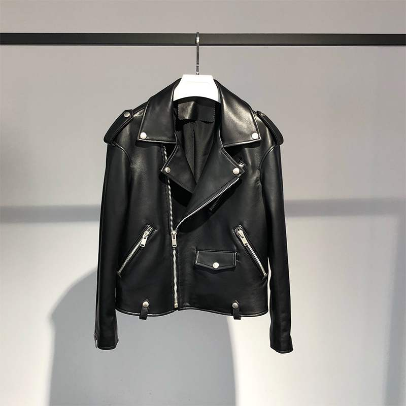 Image 3 - FTLZZ New Pu Leather Jackets Women White Faux Fur Vest  Black 