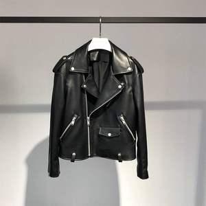Image 3 - FTLZZ nouvelles vestes en cuir synthétique polyuréthane femmes blanc fausse fourrure gilet + noir Faux cuir Streetwear manteau court hiver femme neige vêtements dextérieur