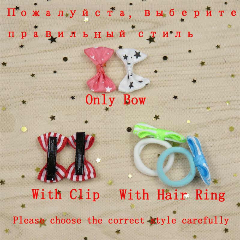 2 יח'\חבילה חידוש צד מוצק פרפר קטן עבור בנות בעבודת יד ילד אלסטי להקות שיער פצפוץ קליפ שיער אביזרי עבור ילד