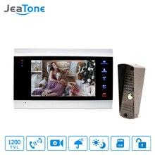 Sistema de intercomunicación LCD para teléfono y puerta, 7 pulgadas, desbloqueo de puerta, vídeo, lente gran angular de 1200TVL con tarjeta SD de 16G