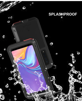 For Samsung Galaxy A9s A9200Case Shock Dirt Proof Water Resistant Metal Armor Cover Phone Case for Samsung A9S Waterproof Case