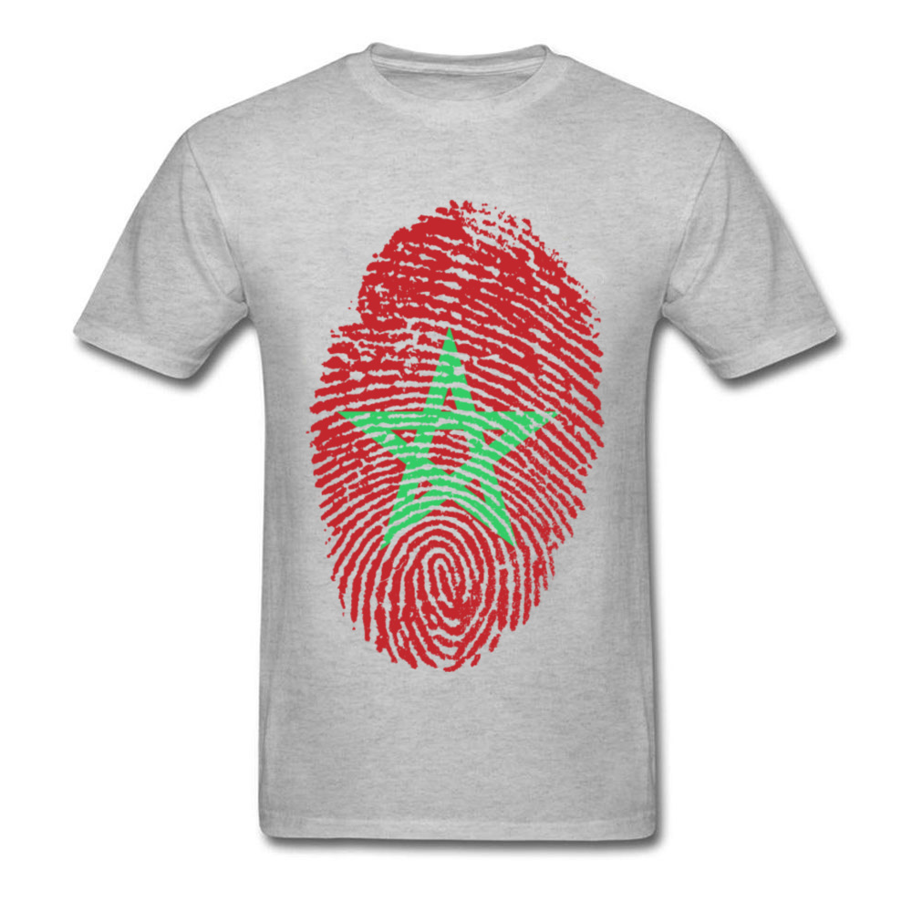 Morocco Flag Fingerprint_grey