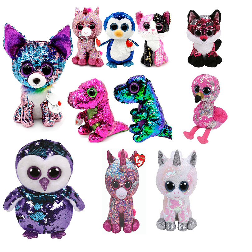"""New Ty Beanie Boos 6/"""" Sparkle The Special Owl Plush Stuffed Toy Gift"""