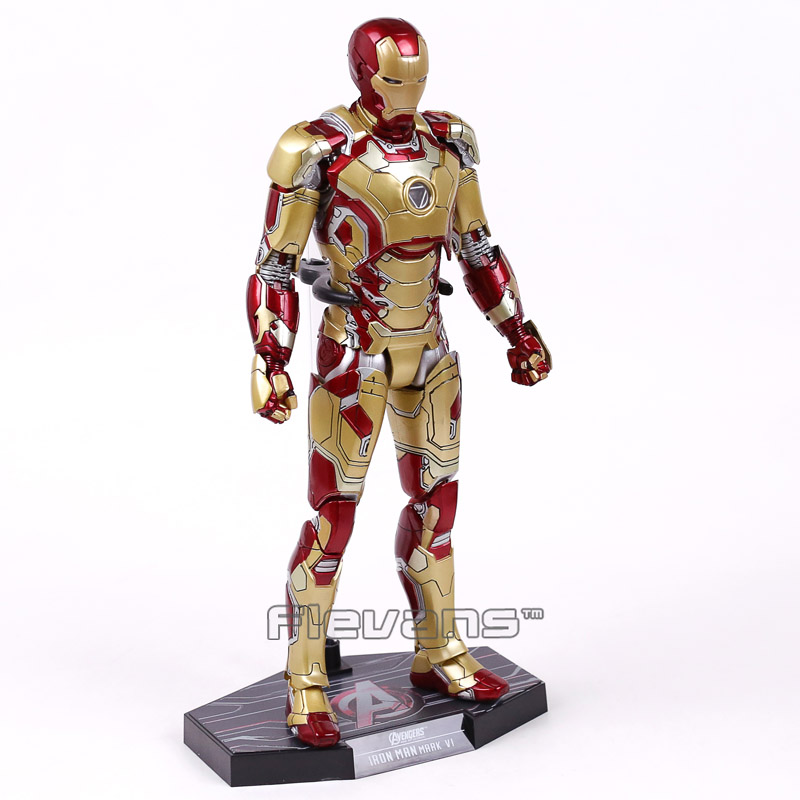 New 2018 Hot Toys Iron Man Diecast Mark XLII MK42 with LED Light Ironman Marvel