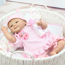 42cm Full Body Soft Silicone Vinyl Baby Doll Kids Babe Reborn Playmate Gift Non-toxic Safe Toys Handmade