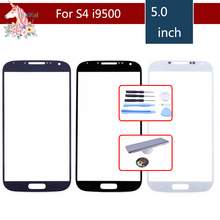High Quality For Samsung Galaxy S IV S4 i9500 I9505 I337 GT-i9500 Front Outer Glass Lens Touch Screen Panel Replacement цена