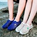 2017 Buraco Verão Amantes Sandálias Cut-Outs Das Mulheres Tamancos Para As Mulheres Sapatos Mulher Slip On Flats Casual Chinelos Mulheres flip flops