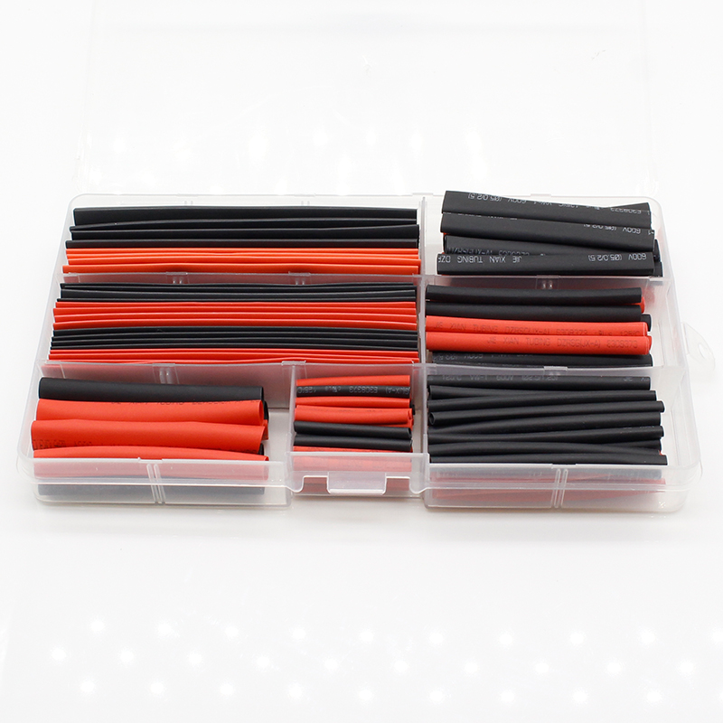 150Pcs 2:1 Polyolefin Heat Shrink Tubing Tube Sleeving Wrap Wire Kit Cable S08 Drop ship 328pcs 2 1 polyolefin heat shrink tubing tube sleeving wrap wire kit cable