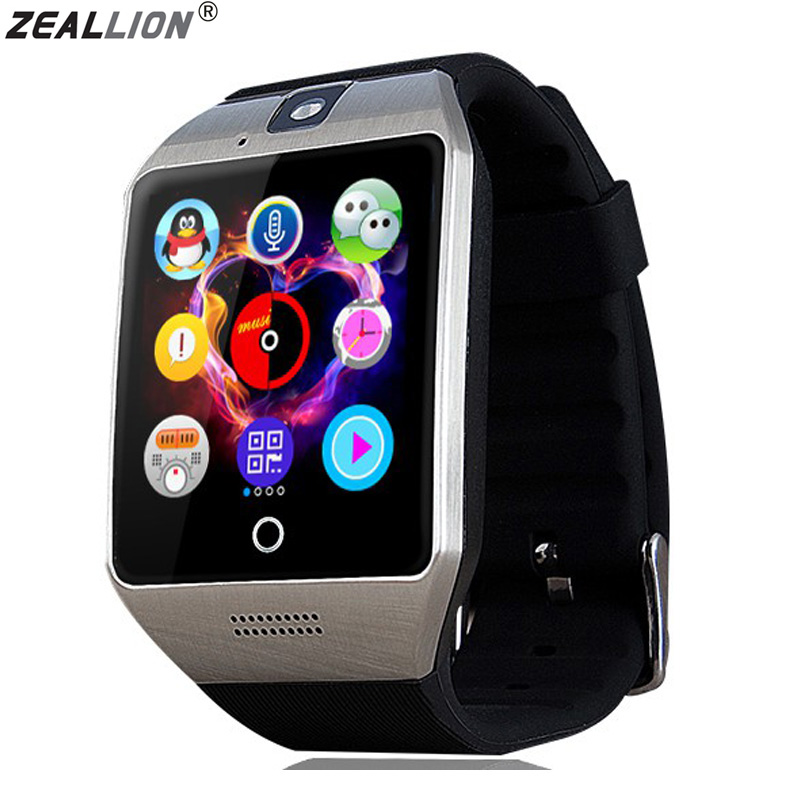 ZEALLION Q18 Smart Watch Sync Notifier Support Sim Card Bluetooth Connectivity For Android IOS Smartwatch 696 smart watch q18 clock sync notifier support sim sd card bluetooth connectivity android phone smartwatch sport pedometer