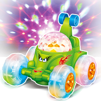 Kids Electric Toys Dancing Stunt Roof LED Music Universal Flash 3D Light Children's Sports Toys Car Gift Toys For Boys