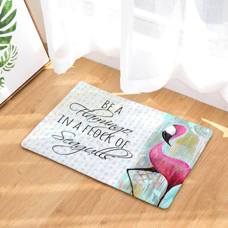 2017 New Floor Mats Flamingo Printed Bathroom Kitchen Carpets Doormats Cat Floor Mat for Living Room Anti-Slip Tapete