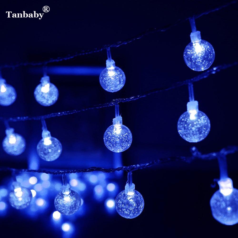 Solar Garland Light String Waterproof 20.7ft 30 LED Solar ...   Crystal Light Show String