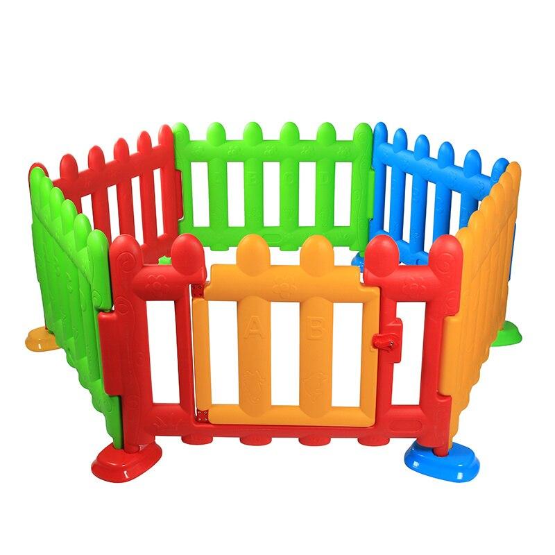 Enfants pliant clôture en plastique bébé jeu garde-corps jouant ramper barrière de sécurité bambin bébé carrés parcs avec porte 6M ~ 3Y
