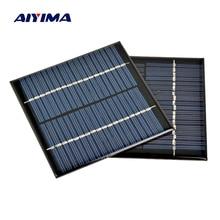 AIYIMA 2Pcs 18V 1.2W Solar Panel DIY Photovoltaic Solar Cell Car Lamp Light Sun Power Solar battery 100*100mm Panneau Solaire
