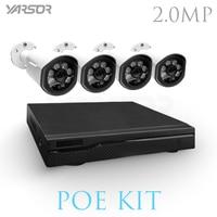 FL PKT4200UE A 4CH 1080P Full HD NVR Kit POE CCTV System 2 0MP Outdoor IP