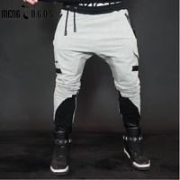 2017 New Fashon Fitness Long Pants Men Casual Sweatpants Baggy Jogger Trousers Fashion Fitted Bottoms Streetwear