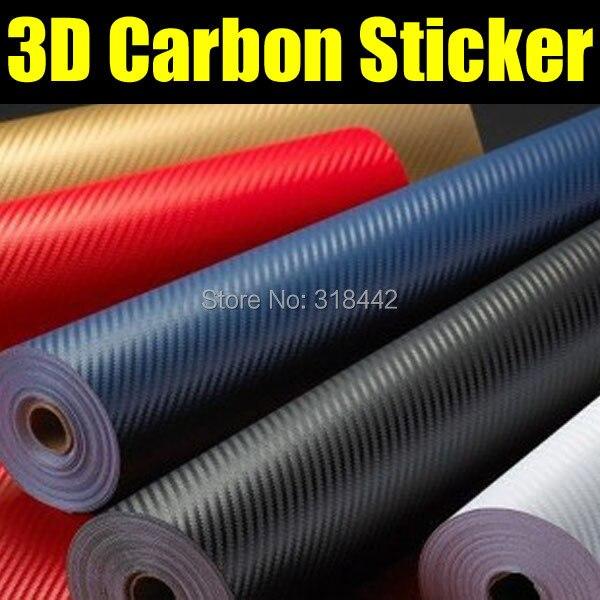 Livraison gratuite 3D carbone wrap vinyle sans bulles d'air avec moins cher prix 1.27*30 m par rouleau 3D Carbone autocollant 3D carbone film
