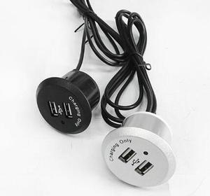 2019 круглая мини двойная USB зарядка розетка для мебели диван или край быстрое зарядное устройство