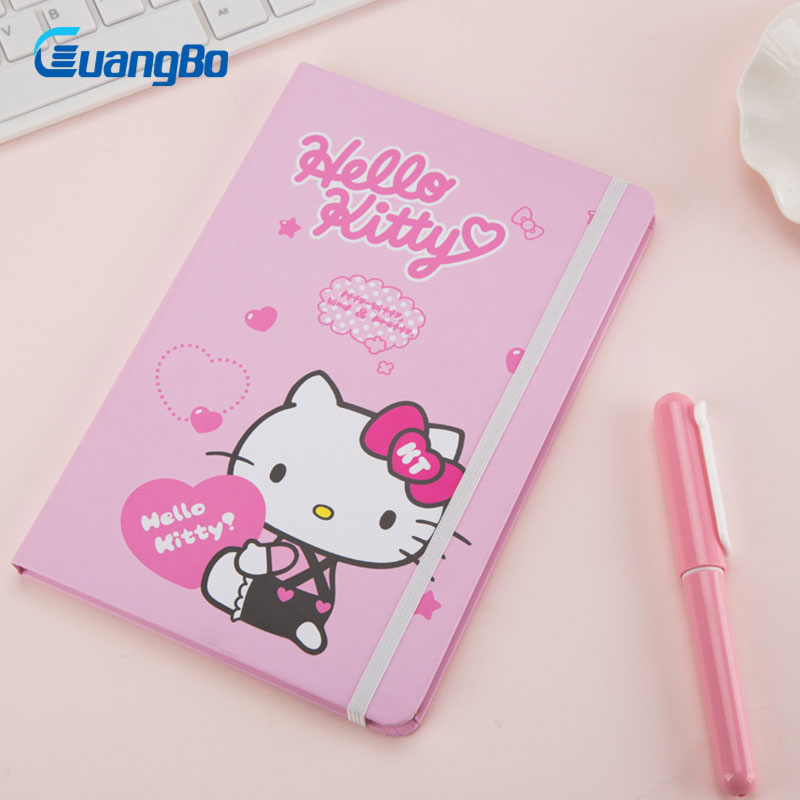 GUANGBO planner note book student stationery hello kitty composition book cute printed daily memos 25k notebooks for student flyers skills student s book