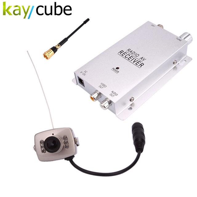 6 Led Night Vision 1.2G 380TV LINES Mini Câmera Sem Fio + Receptor de Combinação de Segurança CCTV Sistema de Câmera Sem Fio 1.2 Ghz