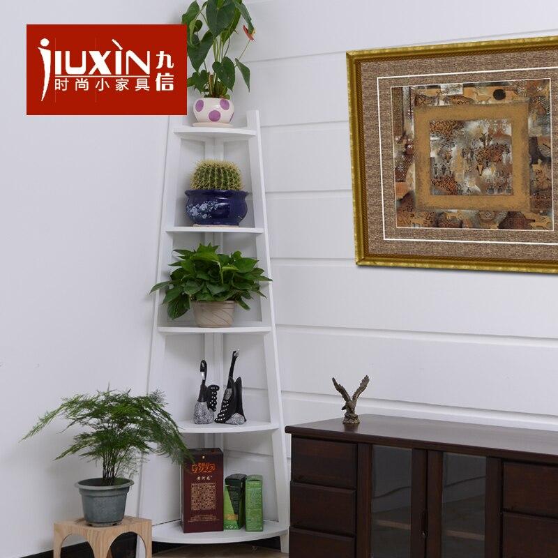 Living Room Corner Shelf: Foreign Korean Garden Tripod Frame Modern Minimalist