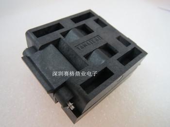 Z klapką nowe amp oryginalny zdjęcie IC51-0804-711 staiger QFP80 TQFP80 0 65mm IC spalania siedzenia Adapter testowania miejsce badania testowania gniazd ławki tanie i dobre opinie Tester kabli JINYUSHI