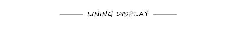 Lining display