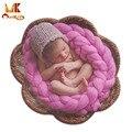 Monkids 2016 El último Abrigo Del Bebé Fotografía Fotografía Recién Nacido Manta Manta Bebé Recibir Mantas tejidas A Mano 9 Colores