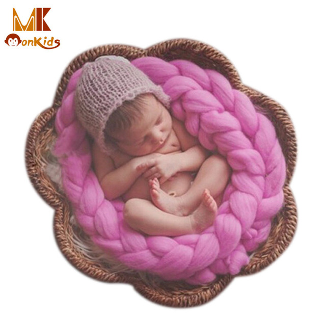 Monkids 2016 The latest Wrap Baby Photography Blanket Newborn Photography Hand-knit Blanket Baby Receiving Blankets 9 Colors