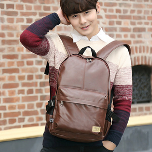 Image 5 - Three box 2017 Brand Leather Mens Backpack Fashion Three Colour Travel Backpack Laptop Vintage Leather School Bag Weekend Bags
