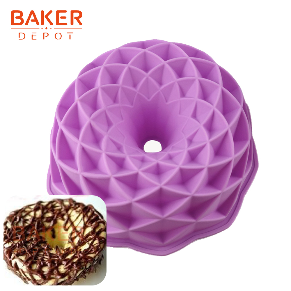 <font><b>BAKER</b></font> <font><b>DEPOT</b></font> Silicone Mold for Big Cake round cake pastry baking form 3D Large Cakes bread bakeware diy Birthday wedding new image