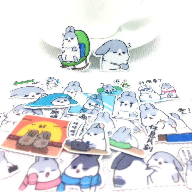 40 Pcs Cute Bucky Rabbit Sticker For Kids Toys Book Phone Luggage Home Decor Fashion Vinyl Decals DIY Stickers Scrapbooking