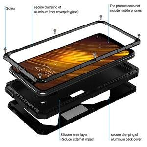 Image 2 - Voor Xiao Mi Mi Pocophone F1 X2 Telefoon Case Hard Alu Mi Num Metalen Gehard Glas Screen Protector Cover Voor xiao Mi 9 9T 9T Pro