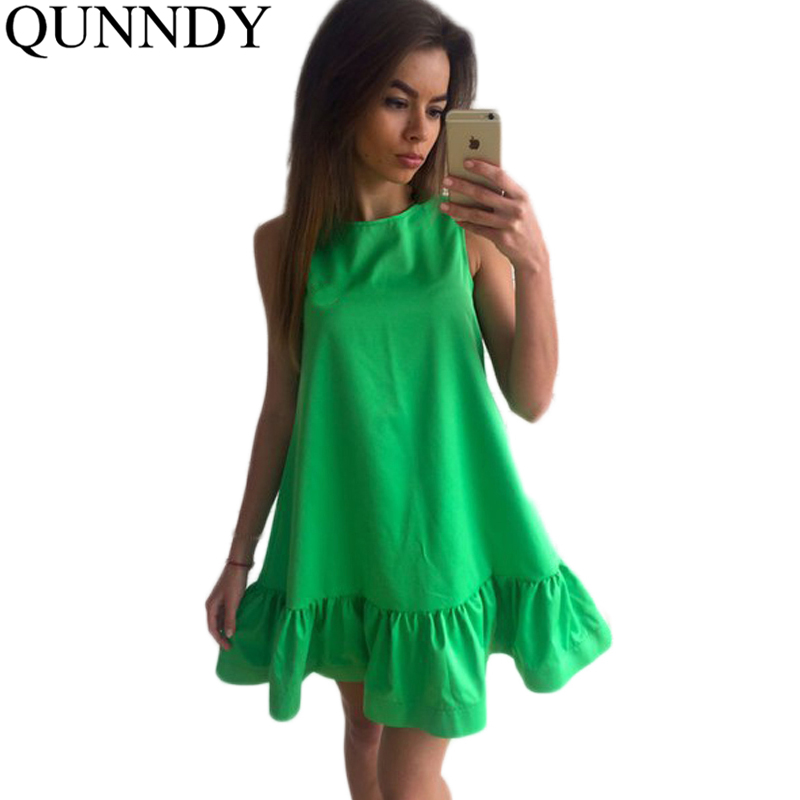 Vestidos Sexy Ruffles Women Dress Summer Sleeveless Casual A Line Bodycon Dresses Party Cocktail Short Mini Tube Beach Dress