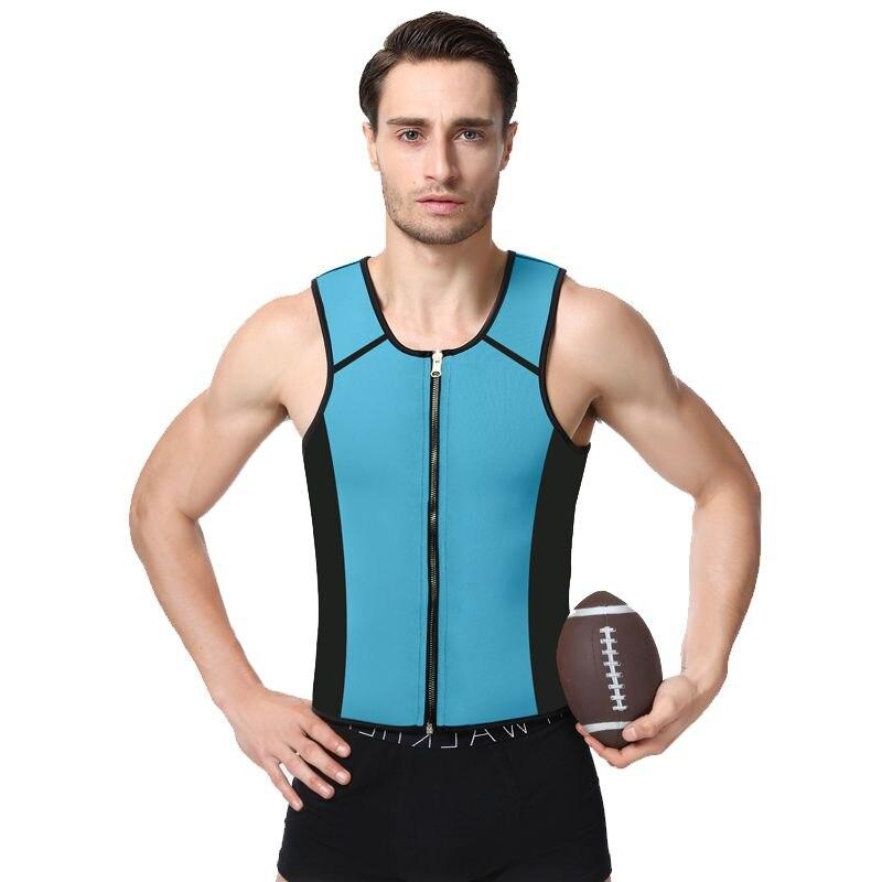 Sleeveless Running Vest for Men Neoprene Mens Sports Wear Gym Fitness Excercise Corset For Slimming Tummy Shaper Weight Loss