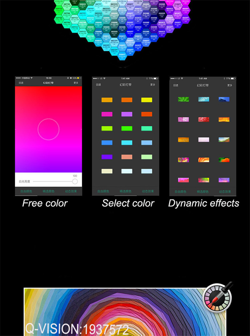 6-Lifesmart New LED Light Strip Wireless Remote Control by Phone16 Million Colors RGB Dimmable Smart Home Automation Customerized