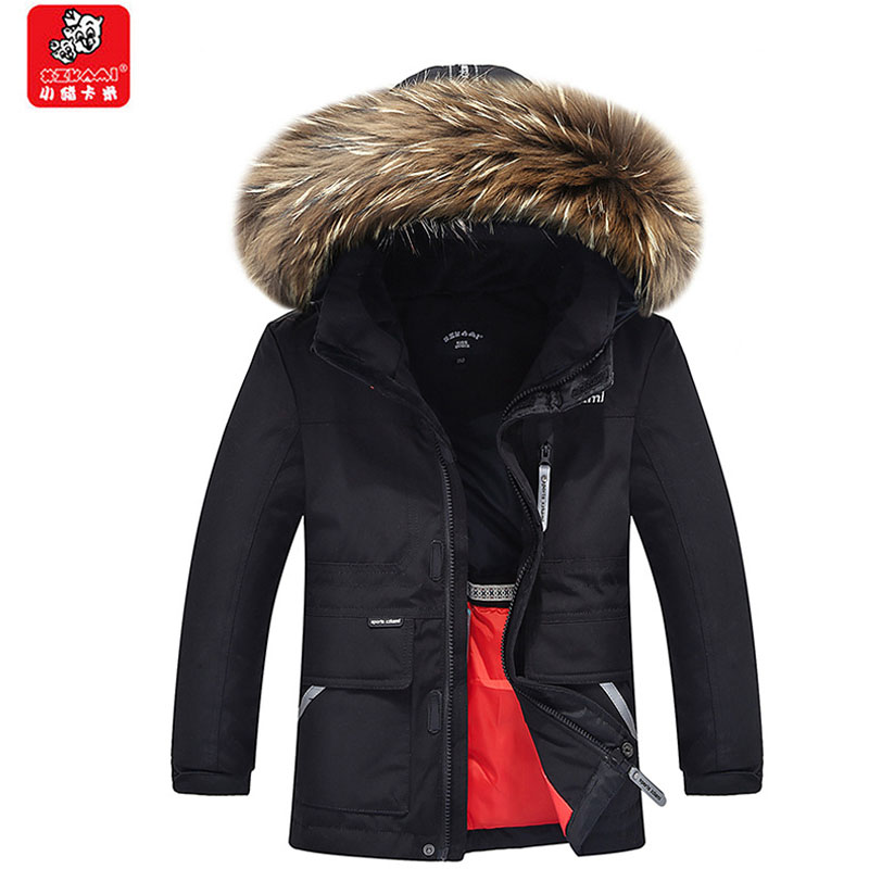 Children Jackets Winter Warm Cotton Coat Padded Boys Fur Collar Baby Kids Clothing