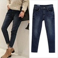 Winter/Fall ripped jeans woman holes denim pants embroidered leisure jeans pants for women loose blue female jeans trousers 980#