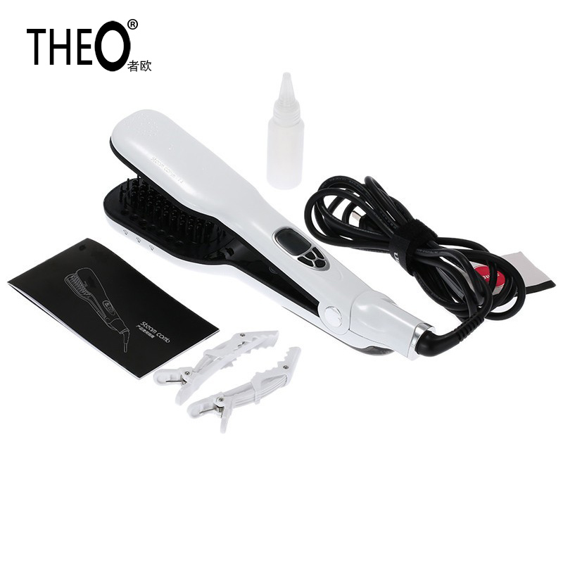 THEO Personalized Hair Straightener Hair Flat Iron Professional Steampod Hair Straightener Electric Steam Hair Straightener