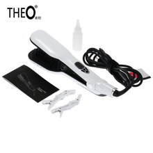 Discount! THEO Personalized Hair Straightener Hair Flat Iron Professional Steampod Hair Straightener Electric Steam Hair Straightener