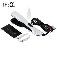 THEO Personalized Hair Straightener Hair Flat Iron Professional Steampod Hair Straightener Electric Steam Hair Straightener