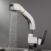 Bakır Banyo Fauect Krom Cilalı Mikser Su Dokunun Prinç Banyo Lavabo Uzatma Havzası Musluk Pull Out BF030