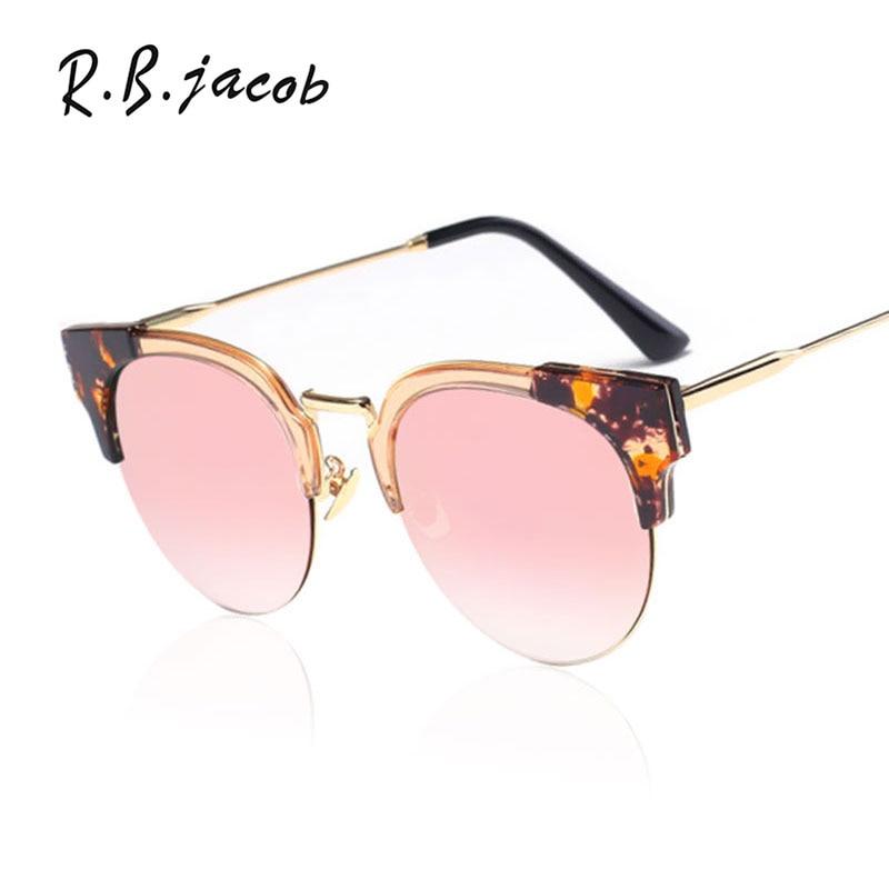 2017 Vintage Cat Eye women Sunglasses Metal Frame Mirror Lady Brand Designer Sun Glasses UV400 Fashion Female Bend oculos