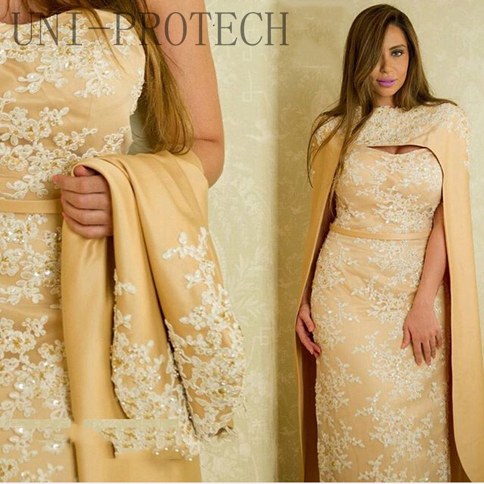 Arrived Evening gowns 2017 Designer Gold Sweetheart Appliqued Beaded Lace Sleeveless Long evening dresses  -  SOPHOENIYA Wedding Dress Factory store